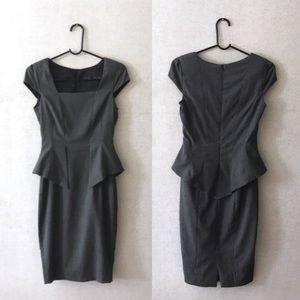 Zara Basic Peplum Sheath Pencil Dress